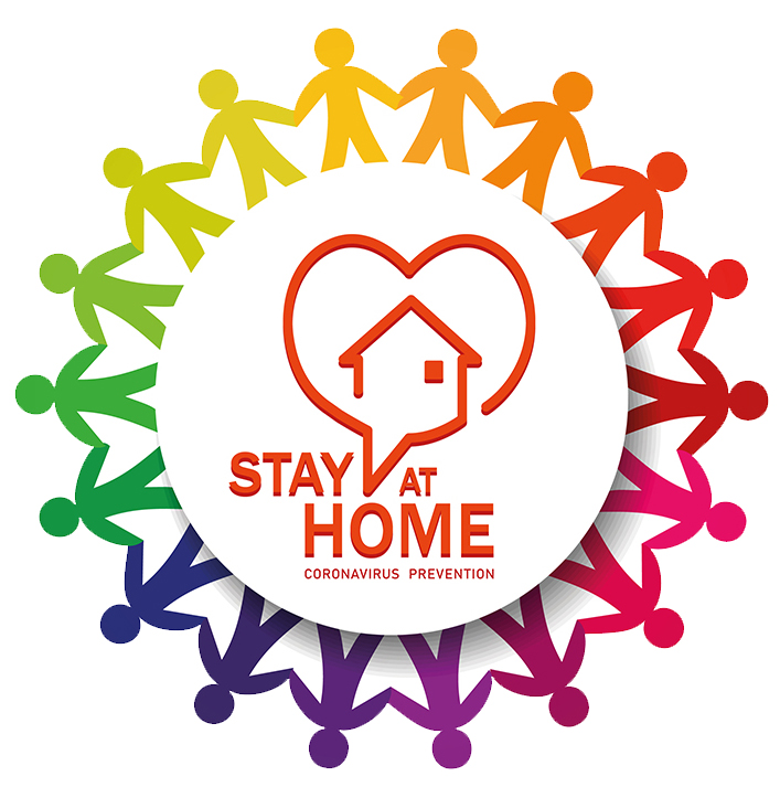 Stay at Home Coronavirus Prevention Logo